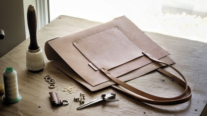 How to Sew a Leather Bag by Hand an Industrial Sewing