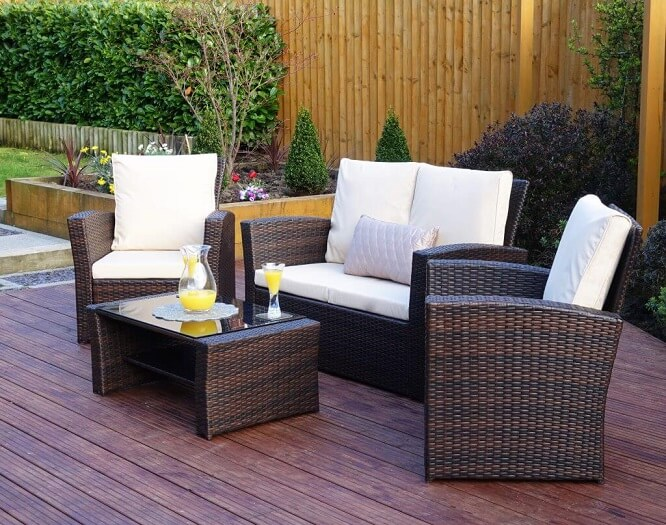 Synthetic Rattan Furniture with Woven Styles and Colors